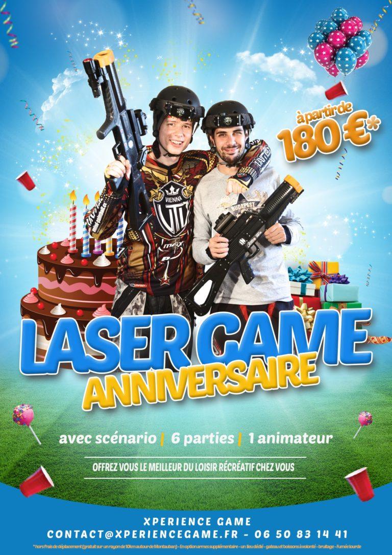anniversaire laser game
